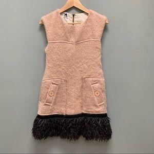 Missoni Pink Black Sleeveless Mini Cocktail Dress
